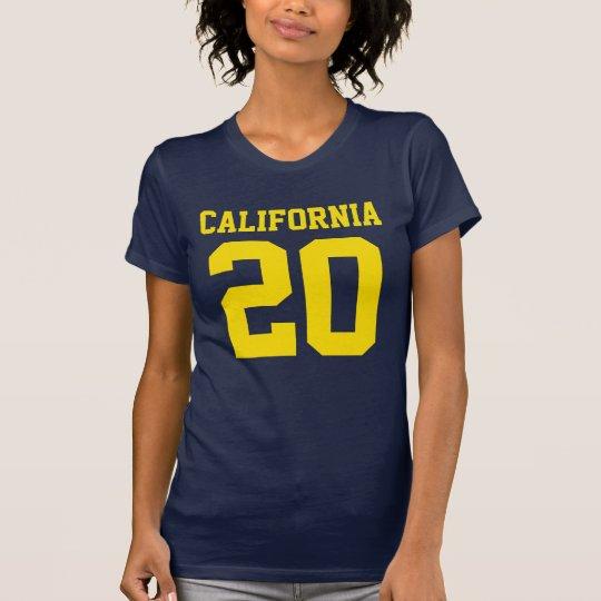 Kalifornien mit Zahl (kundengerechte Zahl) T-Shirt