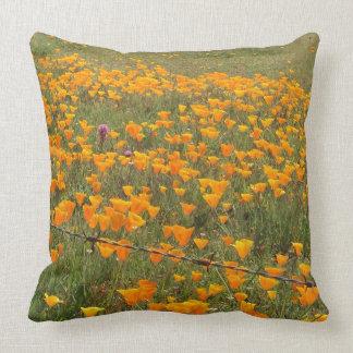 Kalifornien-Mohnblumen-Feld-Kissen Kissen