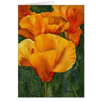 Kalifornien-Mohnblumen notecard Mitteilungskarte