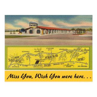 Kalifornien, Mountain View Motel Postkarte
