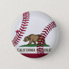 Kalifornien-Republik-Baseball Runder Button 5,7 Cm