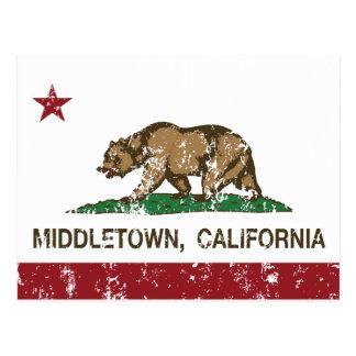 Kalifornien-Republik-Flagge Middletown Postkarte