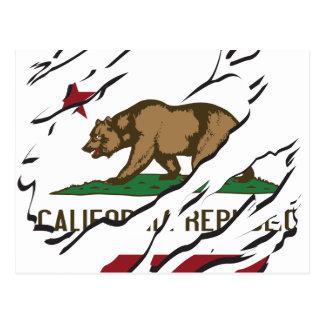 Kalifornien-Republik-Flaggen-Gewohnheiten Postkarte