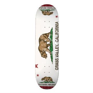 Kalifornien-Republik-Flaggen-Gras-Tal Personalisierte Skateboards