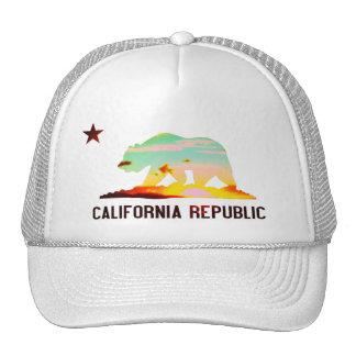 Kalifornien-Republik-Flaggen-Sonnenuntergang-Hut Truckerkappen