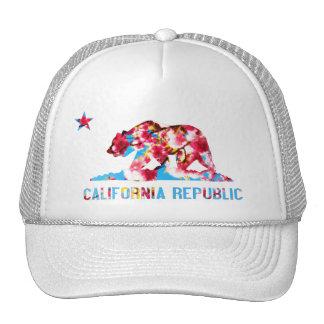 Kalifornien-Republik-Kirschblüten-Hut Netzmütze