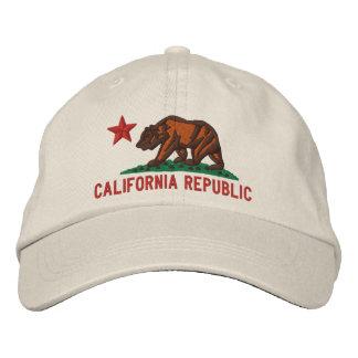 KALIFORNIEN-REPUBLIK Staats-Flagge gestickte Kappe