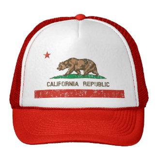 Kalifornien-Republik-Staats-Flaggen-Fernlastfahrer Baseballmütze