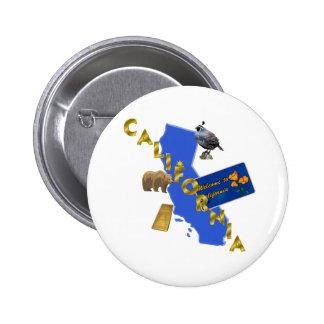 Kalifornien Runder Button 5,1 Cm