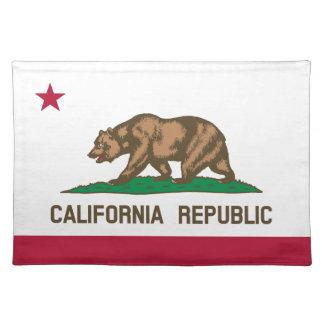 Kalifornien-Staats-Flagge Stofftischset