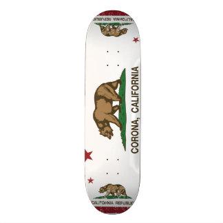 Kalifornien-Staats-Flaggen-Korona 20,6 Cm Skateboard Deck