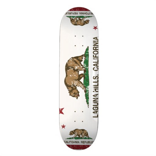 Kalifornien-Staats-Flaggen-Laguna-Hügel Individuelle Skatedecks