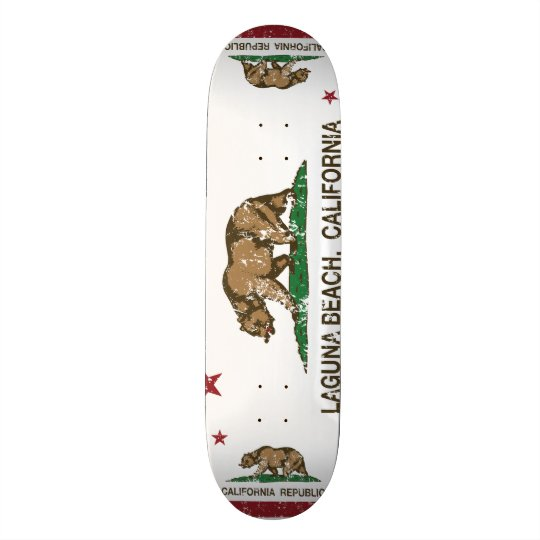 Kalifornien-Staats-Flaggen-Laguna-Strand 18,1 Cm Old School Skateboard Deck
