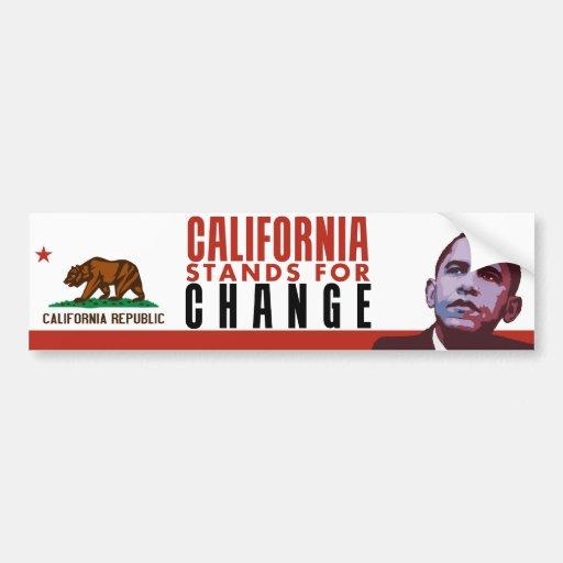 Kalifornien steht für Änderung - Autoaufkleber
