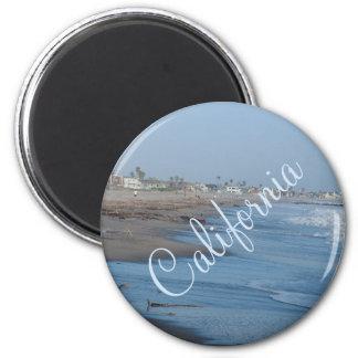 Kalifornien-Strand-Foto-Magnet Runder Magnet 5,1 Cm
