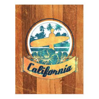 Kalifornien-Surfbrett Postkarte