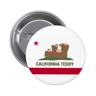 Kalifornien-Teddybär-Flagge Runder Button 5,1 Cm