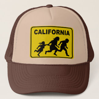 Kalifornien-Überfahrt-Hut Truckerkappe