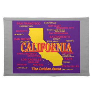 Kaliforniengroßstadt-und -stadtStaatsstolz-Karte Tischset