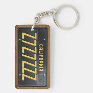 KalifornienKfz-Kennzeichen Keychain GEWOHNHEIT Schlüsselanhänger