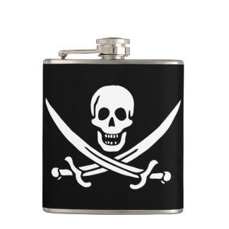 Kaliko-Jack Rackham Piraten-Flaggen-Flasche Flachmann