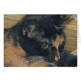 Kaliko-Kätzchen-Gesicht Karte