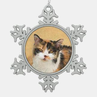 Kaliko-Katzen-Malerei - niedliche ursprüngliche Schneeflocken Zinn-Ornament