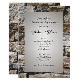 Kalkstein-Paar-Polterabend-Einladung Karte
