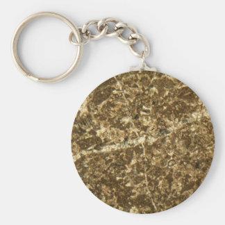 Kalkstein unter dem Mikroskop Schlüsselanhänger