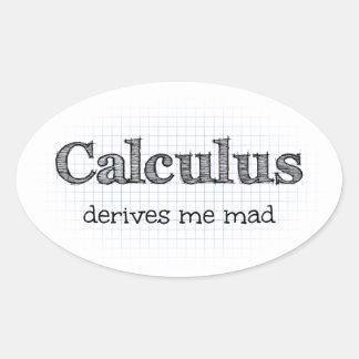 Kalkül leitet mich wütende Mathe-Spaß-Aufkleber ab Ovaler Aufkleber