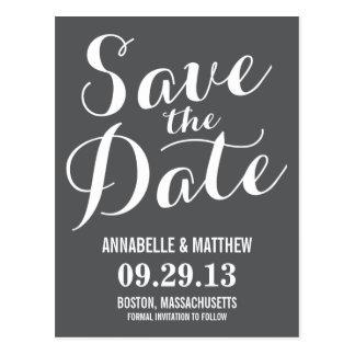 Kalligraphie-Save the Date Postkarte