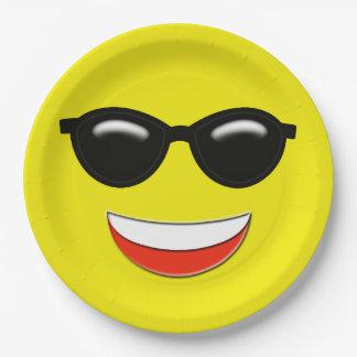 Kalte Sonnenbrille Emoji Pappteller