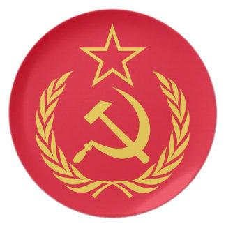 Kalter Kriegs-kommunistische Melaminteller