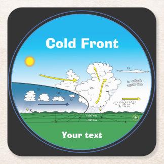 Kaltfront der Meteorologie Rechteckiger Pappuntersetzer