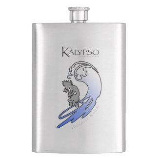 Kalypso Kane, der in Blau surft Taschenflasche