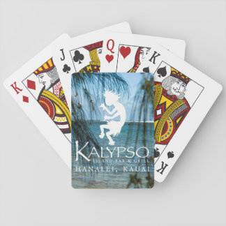 Kalypso Kane Logo im Weiß Pokerkarte