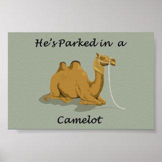 Kamel Camelot Spaß Poster