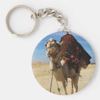 Kamel in Ägypten-Fotografie Standard Runder Schlüsselanhänger