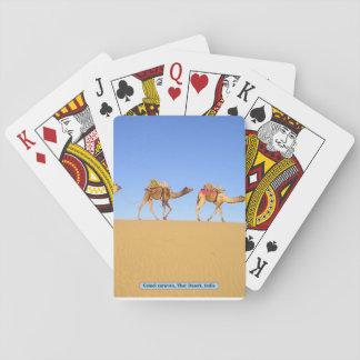 Kamelwohnwagen, Thar-Wüste, Indien Spielkarten