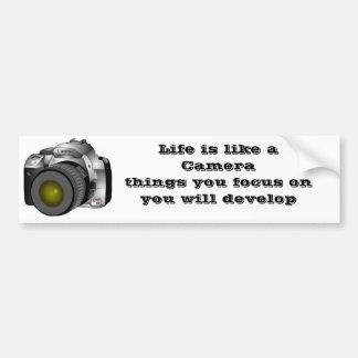 Kamera, Leben ist wie ein Camerathings, das Sie O… Autoaufkleber