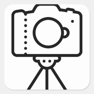 Kamera-Stativ-Stand Quadratischer Aufkleber