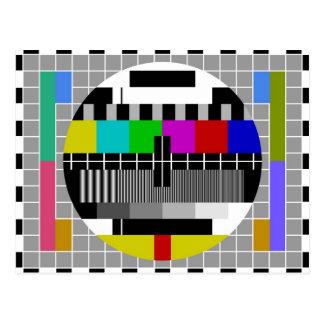 Kamerad-Fernsehtestsignal Postkarte