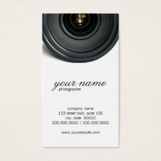 Kameraobjektiv-Fotografie-Visitenkarten Visitenkarte