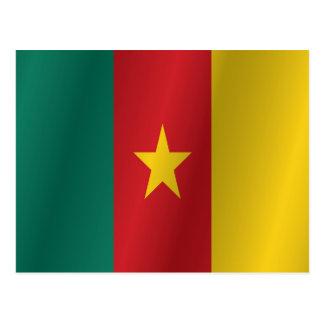 Kamerun-Flagge Postkarte
