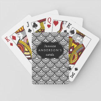 Kamm-Muschel-Skala-Muster-personalisiertes Spielkarten