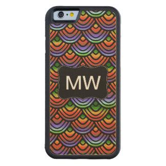 Kamm-Muschel-Skala-Muster-tropisches Monogramm Bumper iPhone 6 Hülle Ahorn