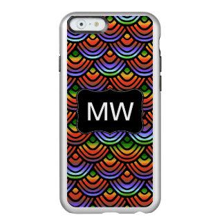 Kamm-Muschel-Skala-Muster-tropisches Monogramm Incipio Feather® Shine iPhone 6 Hülle