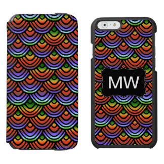 Kamm-Muschel-Skala-Muster-tropisches Monogramm Incipio Watson™ iPhone 6 Geldbörsen Hülle