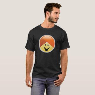 Kampagnen-Guru-Zunge, die Turban Emoji T - Shirt