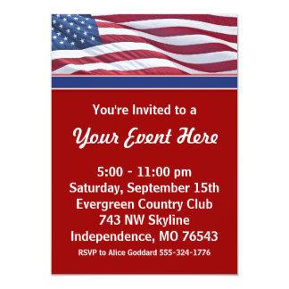 Kampagnen-Party Einladungs-Schablone Karte